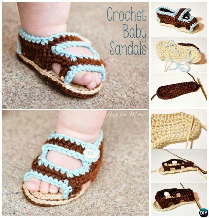 20 Crochet Baby Flip Flop Sandals [FREE Patterns]