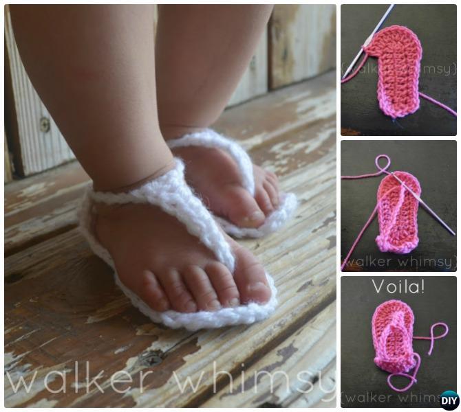 Crochet Baby Strap Sandals Free Pattern
