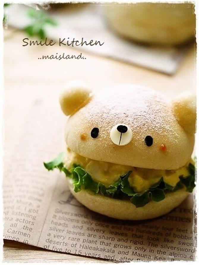 DIY Bear Sandwich-15 Fun Sandwich Ideas for Kids