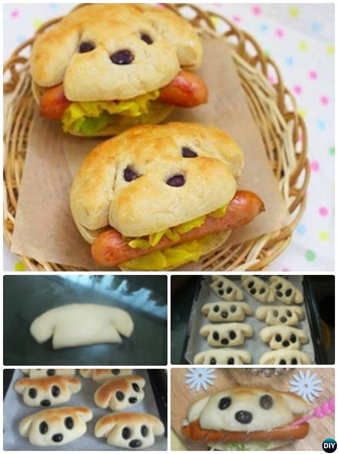 DIY Dog-Shaped Hot Dog Sandwich-15 Fun Sandwich Ideas for Kids