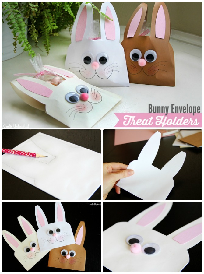 DIY Envelope Bunny Treat-Easter Bunny Gift Ideas