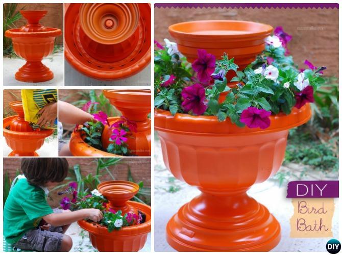 DIY Flower Clay Pot Bird Feeder Instructions