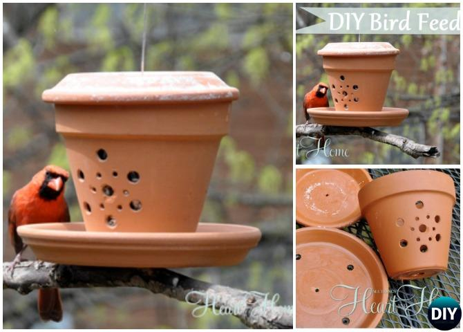 Diy Clay Pot Birdfeeders