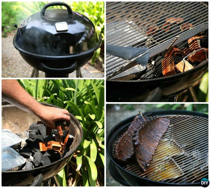 DIY Kettle Grill Smoker Instructions