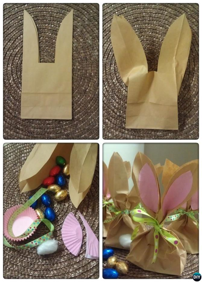 DIY Paper Bag Bunny Treat Easter Gift Ideas