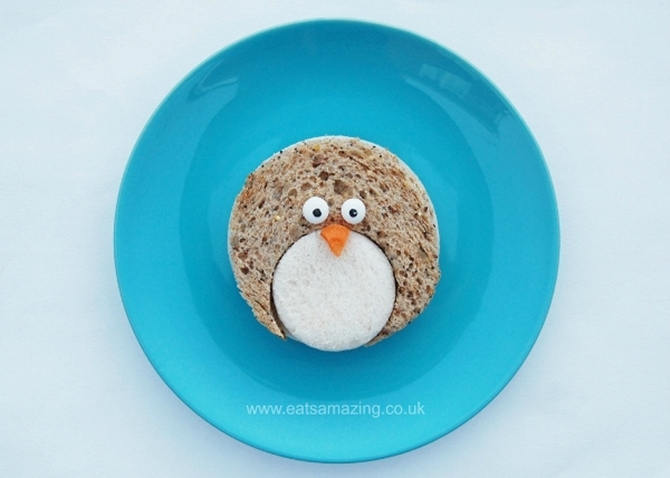 DIY Penguin Sandwich-15 Fun Sandwich Ideas for Kids