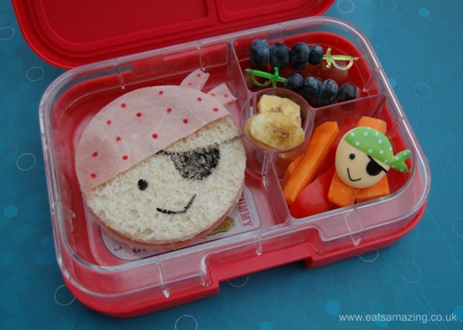DIY Pirate Sandwich-15 Fun Sandwich Ideas for Kids