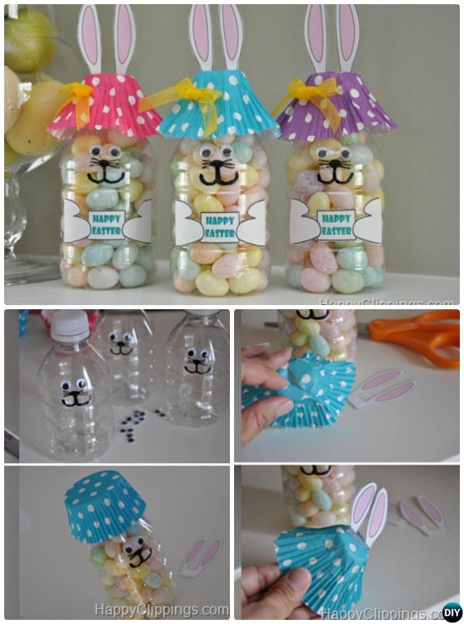 DIY Plastic Bottle Bunny Treat-Easter Bunny Gift Ideas