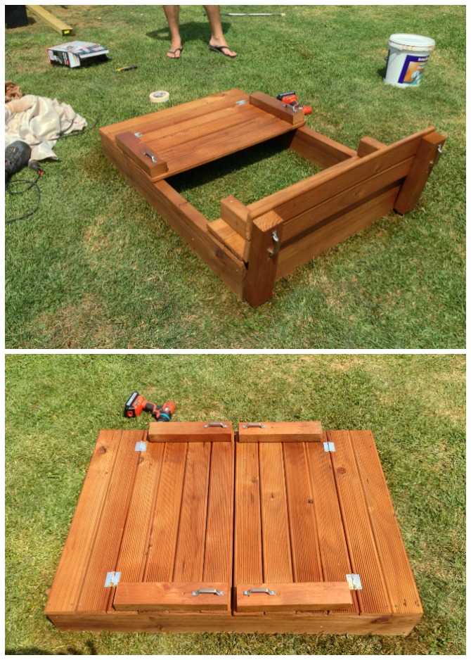 DIY Sandbox with Bench Cover-DIY Sandbox Projects (Video)