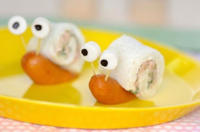 DIY Snail Sandwich-15 Fun Sandwich Ideas for Kids
