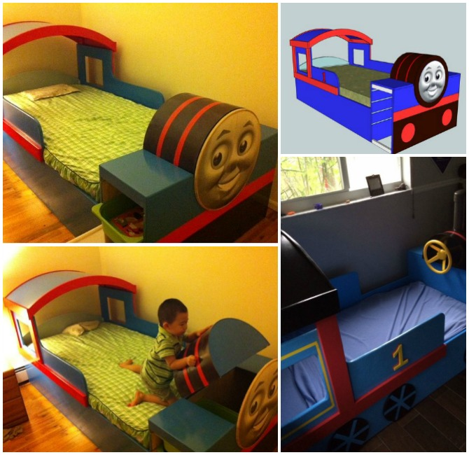 DIY Thomas Train Bed Instructions Free Plan