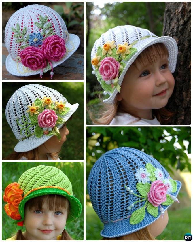 Crochet Panama Flower Hat Free Pattern Video