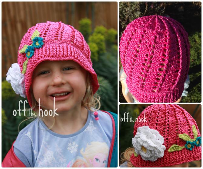Crochet Panama Flower Hat Free Pattern