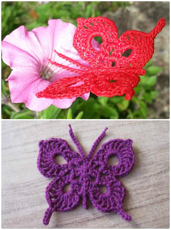 Crochet Swallow-Tailed Butterfly Free Pattern - Crochet #Butterfly; Free Patterns