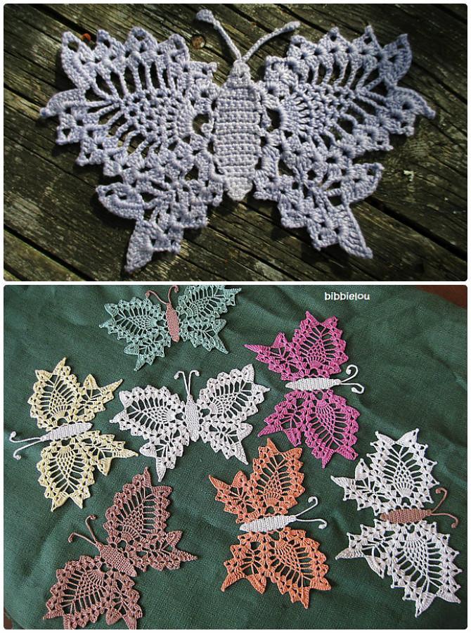 Delicate Lace Crochet Butterfly Free Pattern - Crochet #Butterfly; Free Patterns