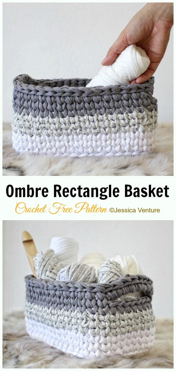 Diy Crochet Storage Basket Free Patterns Instructions