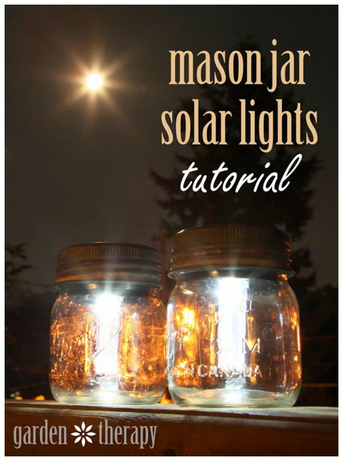 DIY Solar Inspired Solar Light Lighting Ideas- DIY Mason Jar Solar Light Tutorial