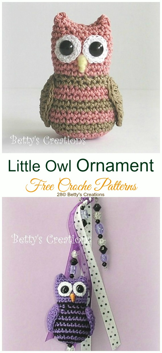Crochet Little Owl Amigurumi Free Pattern - #Amigurumi; Crochet #Owl; Toy Softies Free Patterns