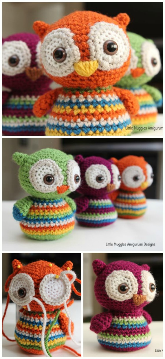 Baby Owl Amigurumi Free Pattern - #Amigurumi; Crochet #Owl; Toy Softies Free Patterns