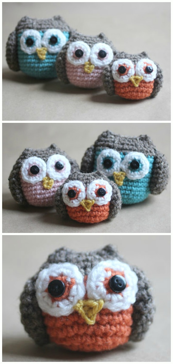 Crochet Owl Family Amigurumi Free Pattern - #Amigurumi; Crochet #Owl; Toy Softies Free Patterns