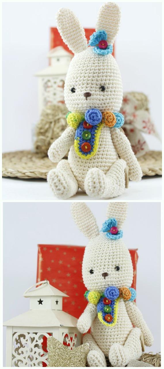 Amigurumi Circus Rabbit  Crochet Free Pattern - #Crochet; Amigurumi #Bunny; Toy Softies Free Patterns
