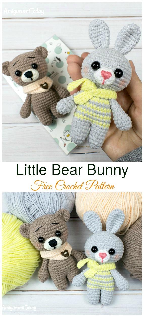 19+ Best Crochet Amigurumi Bunny Toy Free Patterns + Tutorials In 2020 | 1250x570