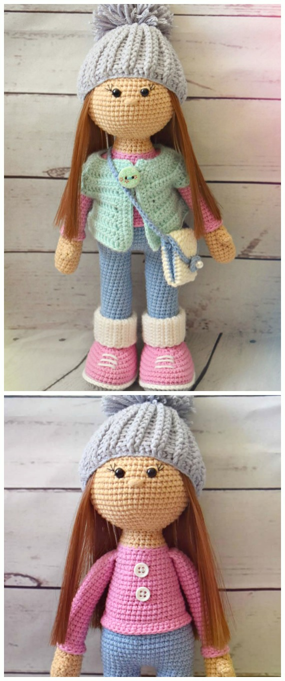 Crochet Molly Doll Amigurumi Free Pattern - #Crochet, #Doll Toys Amigurumi Free Patterns