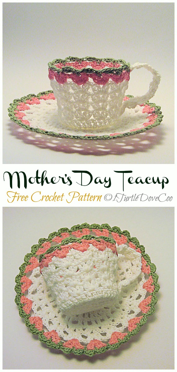 Mother's Day Teacup Free Crochet Pattern - #Crochet; #Teacup; Free Patterns