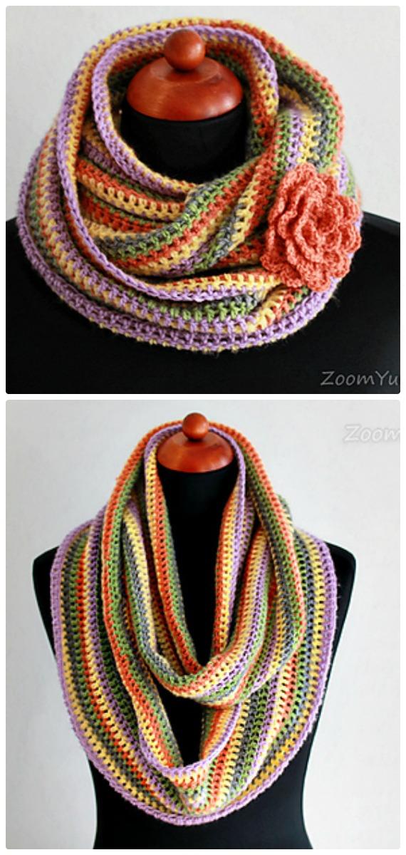 Crochet Easy Crochet Infinity Scarf Free Pattern - Crochet Infinity Scarf Free Patterns