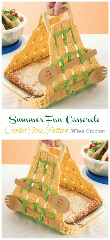 Crochet Summer FunCasserole Carrier Free Pattern - #Crochet; #Casserole; Carrier Free Patterns