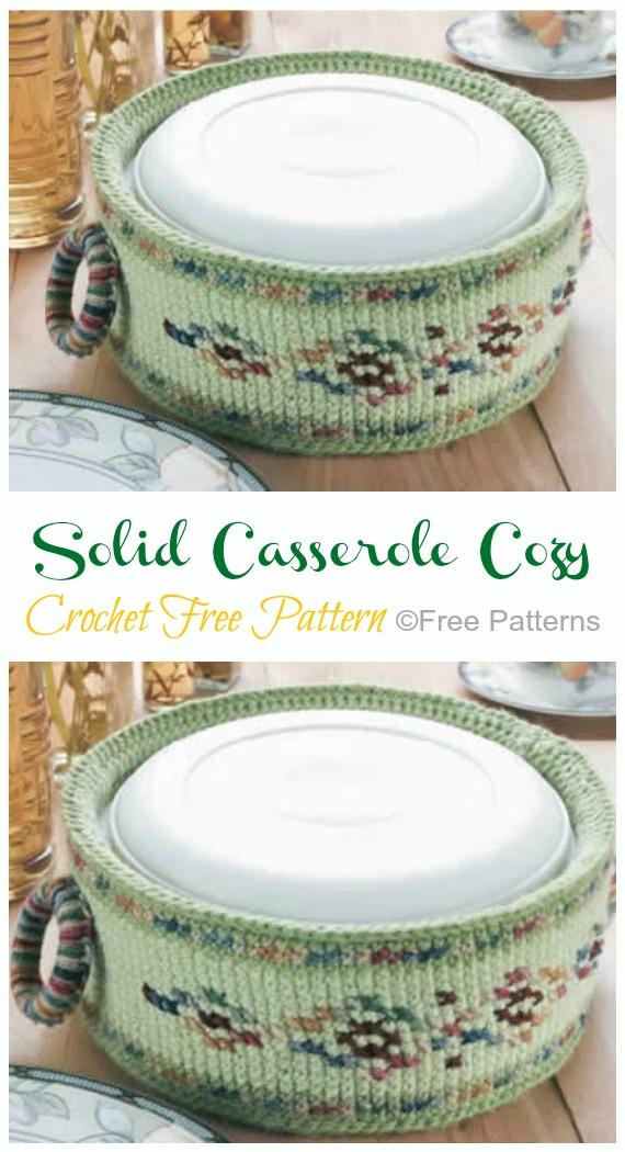 Crochet Casserole Cozy Free Pattern - #Crochet; #Casserole; Carrier Free Patterns