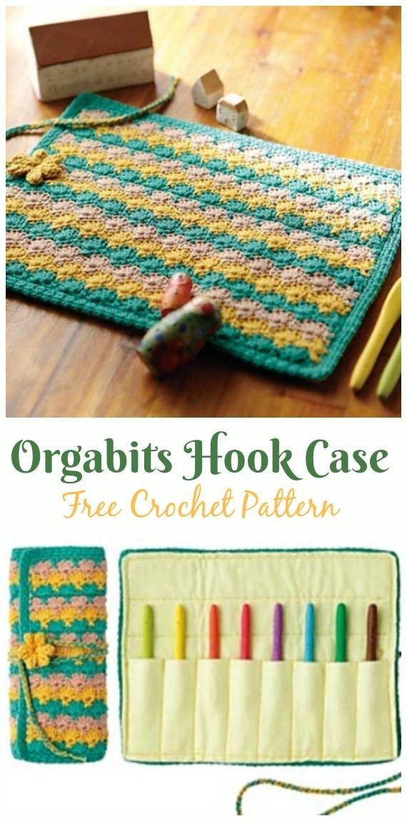 Orgabits Hook Case Crochet  Free Pattern - #Crochet #HookCase & Holders Free Patterns
