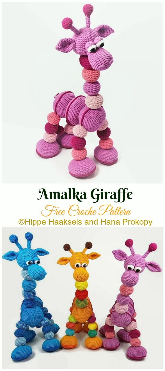 Amalka Giraffe Crochet Amigurumi Free Pattern - #Amigurumi; #Giraffe; Toy Free Crochet Patterns