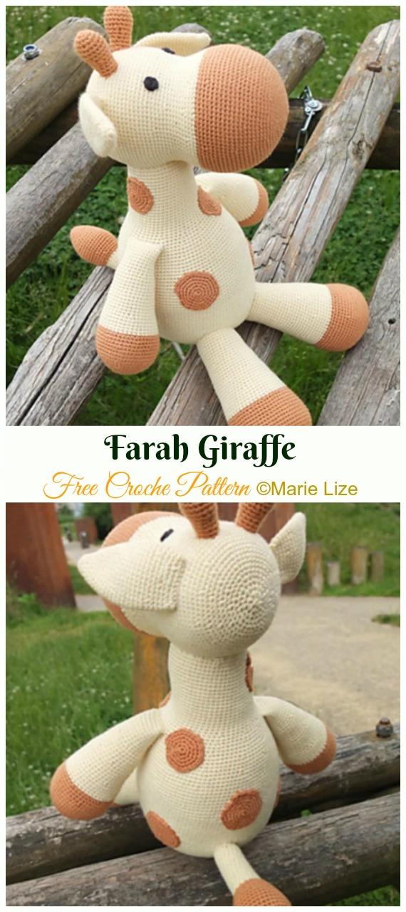 Farah Giraffe Crochet Amigurumi Free Pattern - #Amigurumi; #Giraffe; Toy Free Crochet Patterns