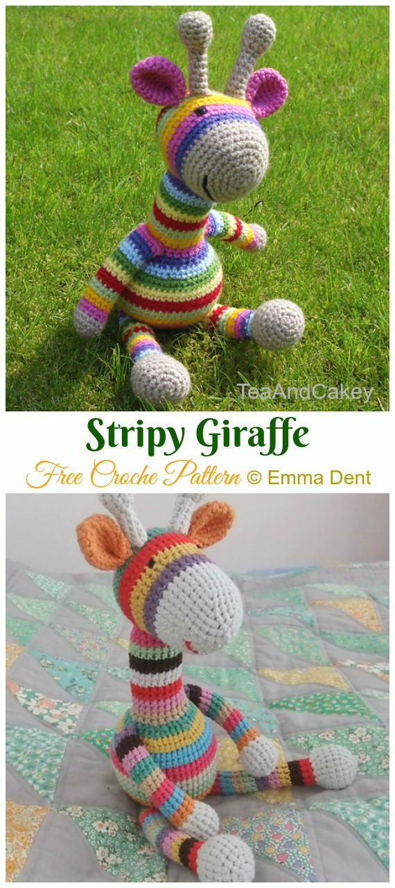 Stripy Giraffe Crochet Amigurumi Free Pattern - #Amigurumi; #Giraffe; Toy Free Crochet Patterns