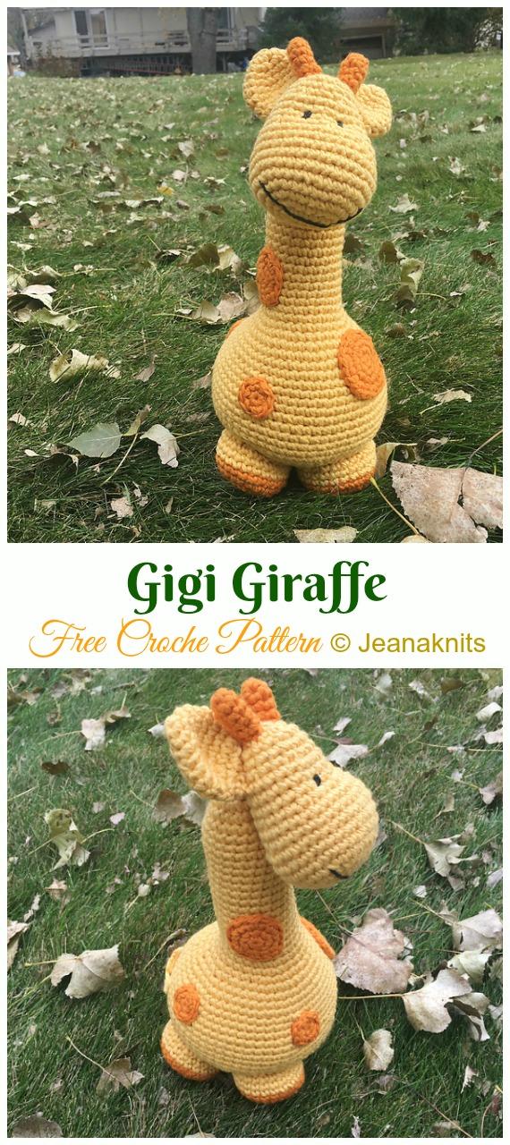 Gigi Giraffe Crochet Amigurumi Free Pattern - #Amigurumi; #Giraffe; Toy Free Crochet Patterns