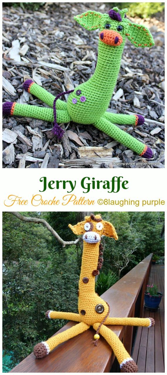 Jerry Giraffe Crochet Amigurumi Free Pattern - #Amigurumi; #Giraffe; Toy Free Crochet Patterns