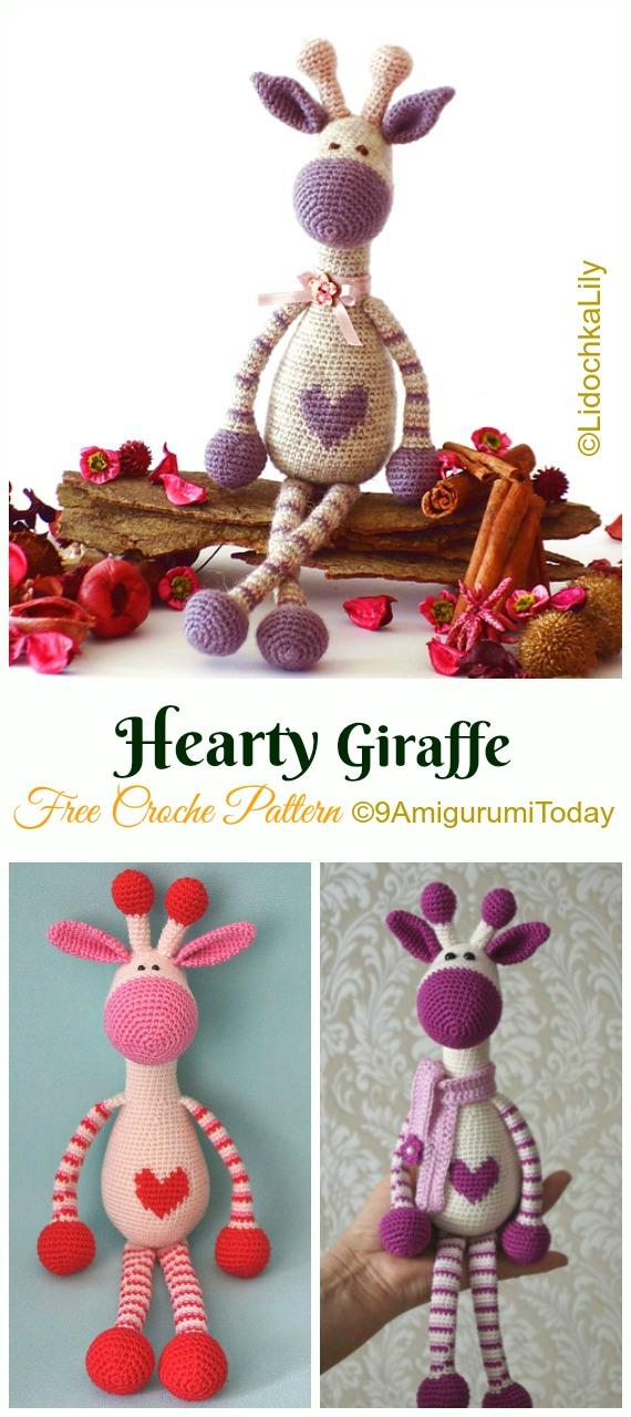 Hearty Giraffe Crochet Amigurumi Free Pattern - #Amigurumi; #Giraffe; Toy Free Crochet Patterns