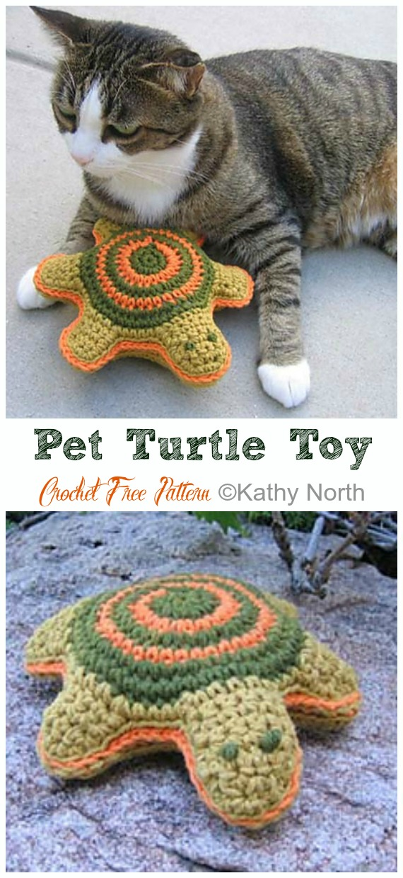 Amigurumi Pet Turtle Toy Crochet Free Pattern - #Crochet; #Turtle; Amigurumi Toy Softies Free Patterns