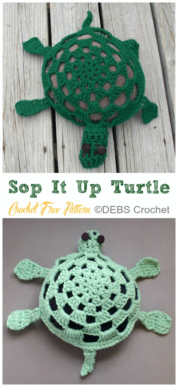 Amigurumi Sop It Up Turtle Crochet Free Pattern - #Crochet; #Turtle; Amigurumi Toy Softies Free Patterns