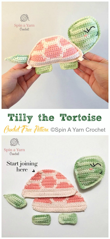 Amigurumi Tilly the Tortoise Crochet Free Pattern - #Crochet; #Turtle; Amigurumi Toy Softies Free Patterns