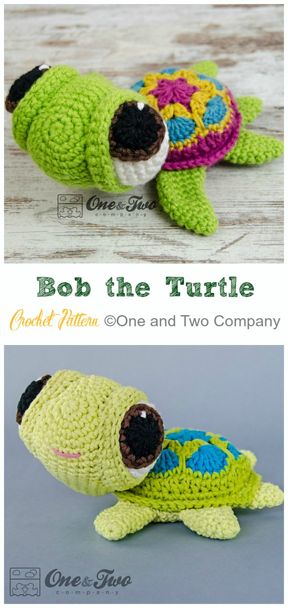 Amigurumi Bob the Turtle Crochet Pattern - #Crochet; #Turtle; Amigurumi Toy Softies Patterns