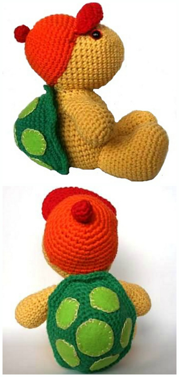 Amigurumi Turtle Ollie Crochet Pattern - #Crochet; #Turtle; Amigurumi Toy Softies Patterns