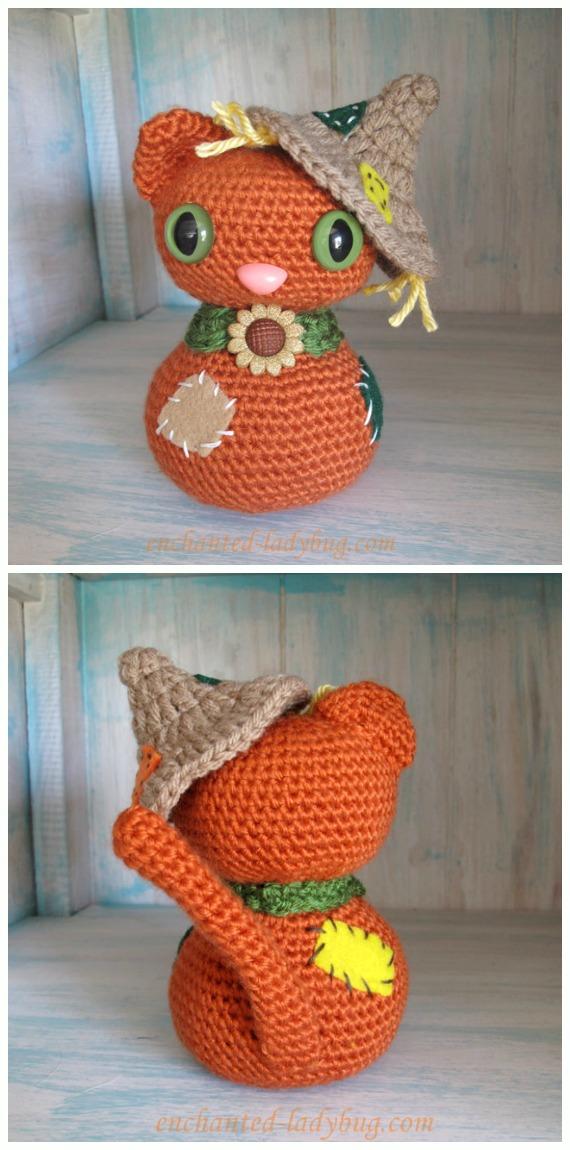 Crochet   Scarecrow Cat Amigurumi Free Pattern - #Amigurumi; #Cat; Softies Free Crochet Patterns