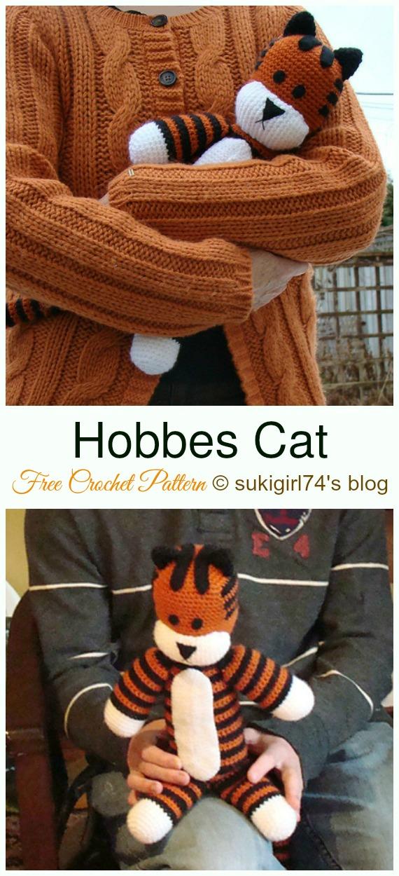 Crochet Lying Kittens Amigurumi Free Patterns | 1250x570