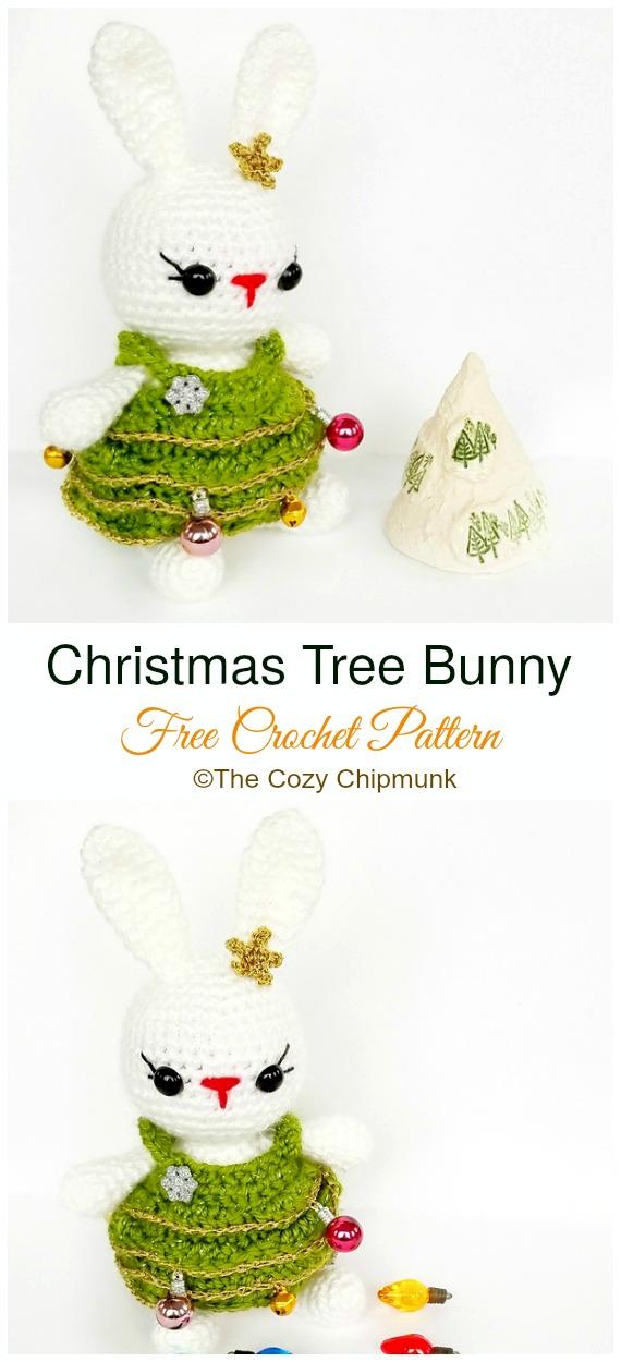 Amigurumi Christmas Tree Bunny Crochet Free Pattern - #Crochet; Amigurumi #Bunny; Toy Softies Free Patterns