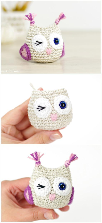 Crochet Little Owls Amigurumi Free Pattern - #Amigurumi; Crochet #Owl; Toy Softies Free Patterns