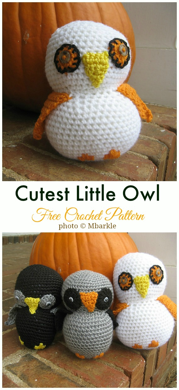 Crochet Cutest Little Owl Amigurumi Free Pattern - #Amigurumi; Crochet #Owl; Toy Softies Free Patterns