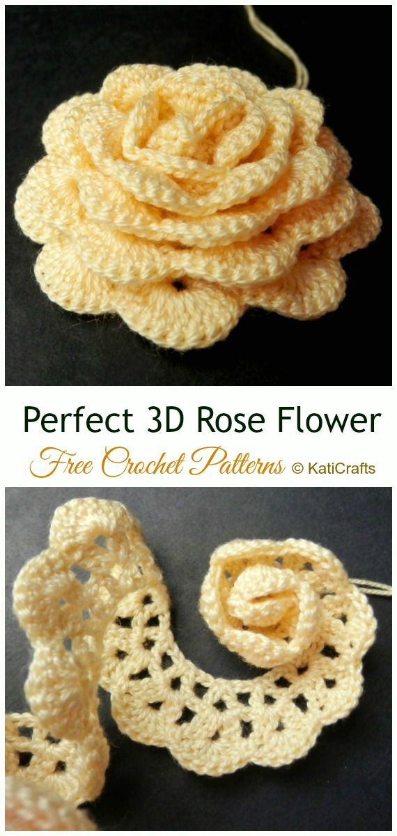 18 Ways To Crochet 3d Rose Flowers [free Patterns]