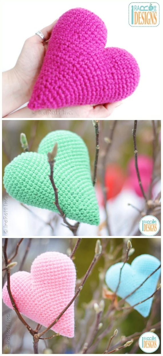 Crochet Cupid's Heart Amigurumi Free Pattern - Little Puffy #Heart; Amigurumi Free #Crochet; Patterns